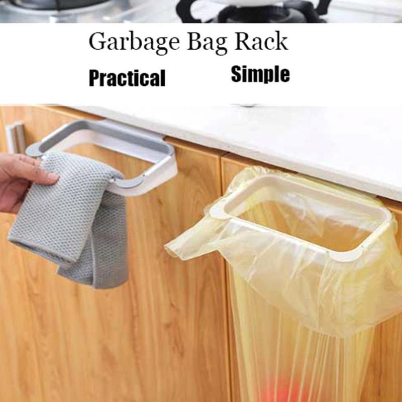 Plastic Garbage Bag Holder Bracket Stand Rack Kitchen Trash Storage Hanger Tool