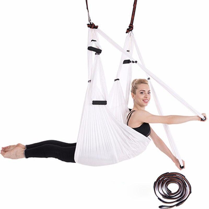 Hamacs de Yoga aériens équipés d'un étirement de Fitness prolongé avec un tissu de Parachute