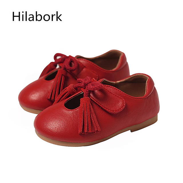 Children's tassel girl soft-skinned Peas shoes 2017 Spring and Autumn Liangpi shoes HOOk & LOOP baby shoes soft bottom shoes