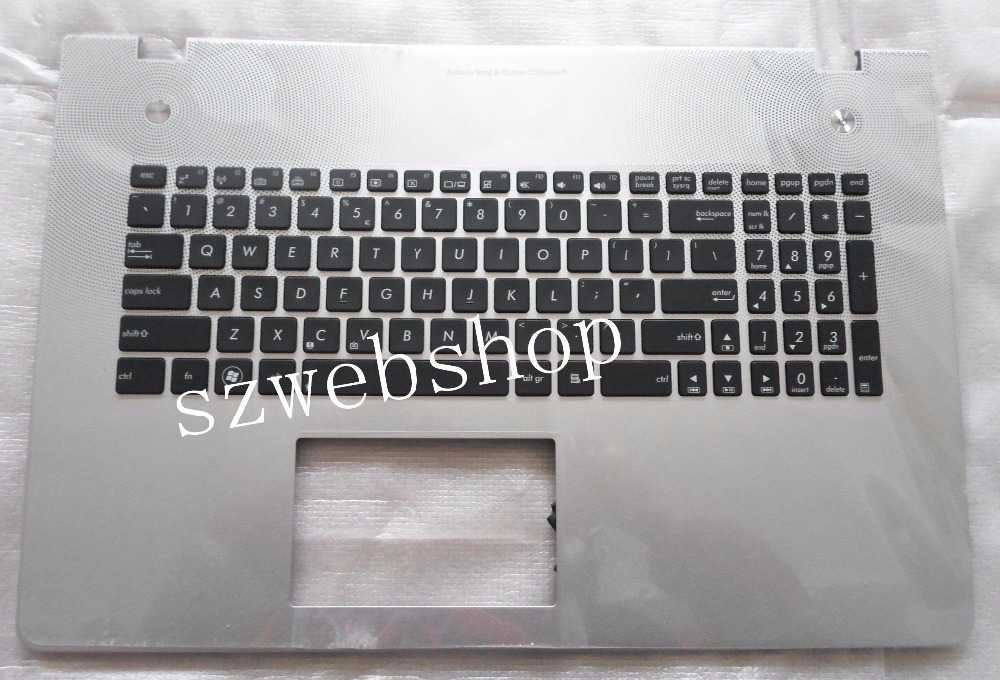 ФОТО New for ASUS N76 N76V N76VB N76VJ N76VM N76VZ Palmrest US Keyboard Backlit Cover with C shell non-touchpad