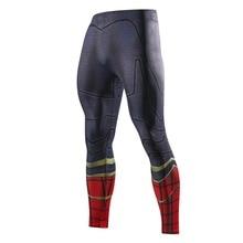 Мужские обтягивающие компрессионные штаны, Супермен, Человек-паук, железный человек, Бэтмен, леггинсы, спортивные штаны, 3D фитнес, бодибилдинг, эластичные брюки