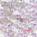 Todos os tamanhos nail art strass rosa opala não hot fix pedrinhas para nails diy projeto y3054