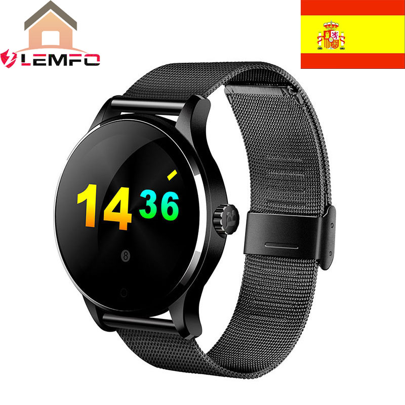 Spain Mall K88H Bluetooth Smart Watch Metal Heart Rate Monitor Smartwatch Sync Phone Message for