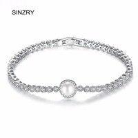 SINZRY ronde Cubic Zironia Bedelarmbanden dame elegante imitatie parel vintage bruids sieraden accessoire