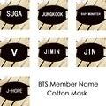 Youpop KPOP BTS Bangtan Boys Member Name K-POP Dust Cotton Mouth-muffle Face Mask Dammskydd Maschere Antipolvere Masques TB011