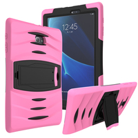 Silicone Hybrid Extreme Military Heavy Duty Shockproof Protective Stand Cover Case For Samsung Galaxy Tab A
