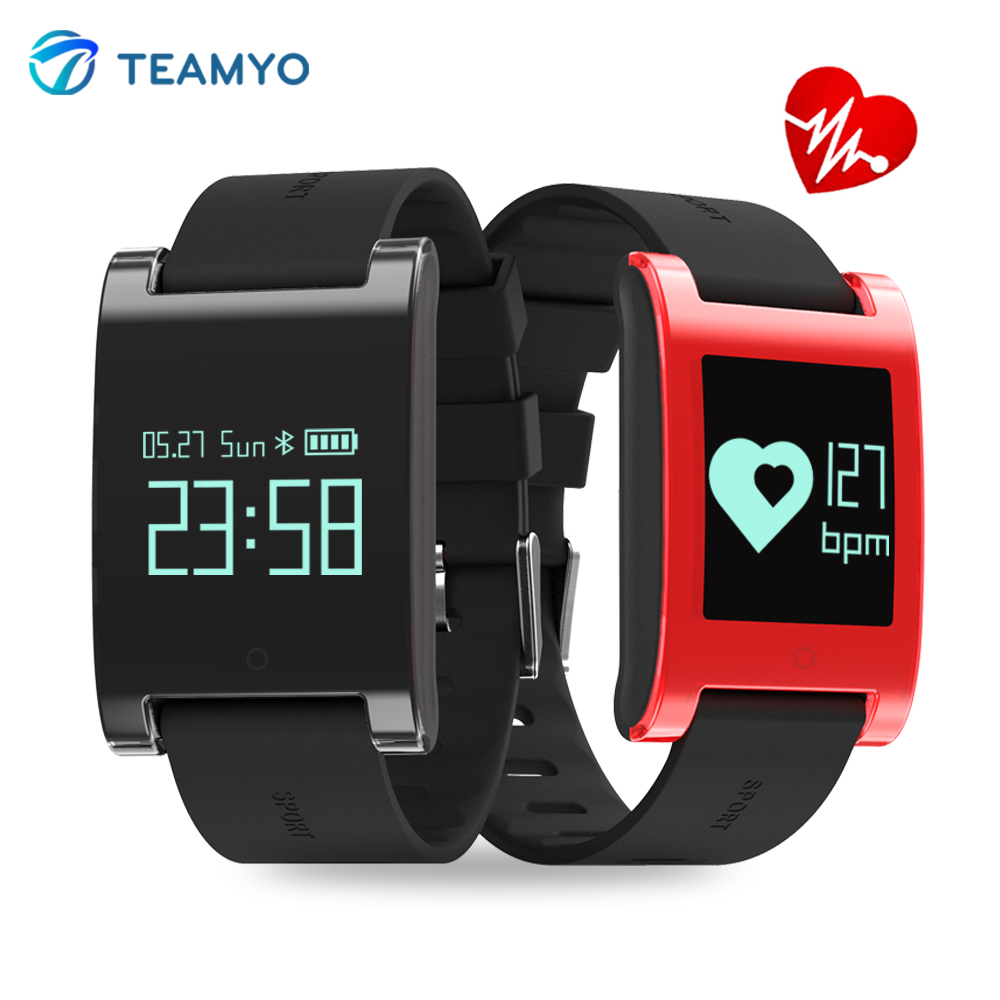 Teamyo Smart wristband waterproof Smartwatch Blood pressure pedometer Heart rate monitor Fitness tracker Smart watch for man smart watch sports pedometer smartwatch heart rate monitor waterproof smart wristband remote control camera for phones relogio