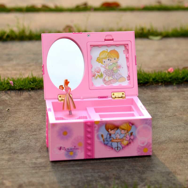 US $12 99 |2017 Girls Ballet Dance Music Instrument Jewelry Box & Portable  Make up Box Fashion Jewellery Box Childrens Doll Xmas Gift Pink-in Toy