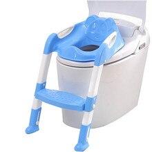 Нескользящая унитаза лестница тренер сиденье горшок стул складной безопасности дети для