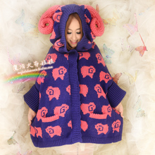 Princess sweet lolita cloak vintage big claw women's outerwear female cardigan sweater outerwear custom size color can choose