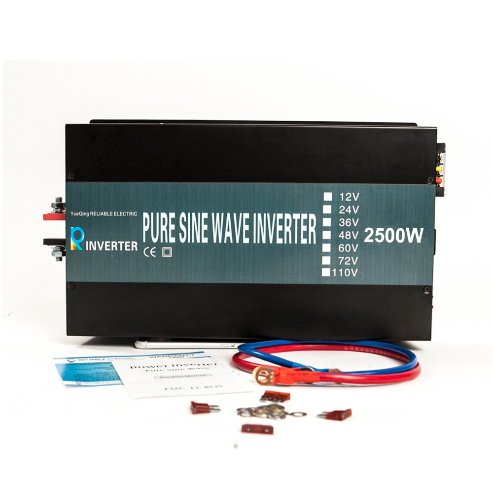 цена на Off Grid 2500w Pure Sine Wave Inverter Solar Power Inverter LED Display DC to AC Converter Car Inverter Home Inverter