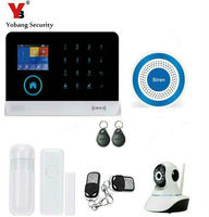 Yobang Security Touch Keypad RFID WIFI GPRS SMS 3G WCDMA/CDMA Home Alarm System Network Security Camera Monitoring 3G Alarma