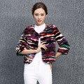 Подлинная настоящее природный норки пальто женщин новый короткий участок сплайсинга женской моды куртка дамы верхней одежды на заказ любой размер