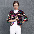 Genuine real natural mink fur coat mulheres nova seção de curtas splicing moda feminina jaqueta senhoras outwear personalizado qualquer tamanho