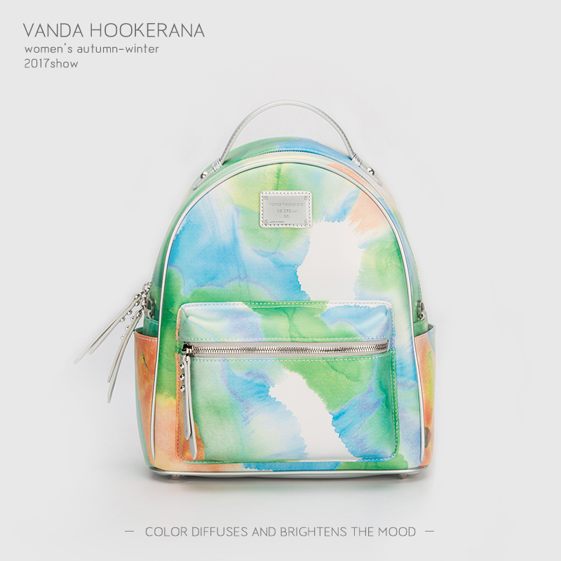 Vanda Hookerana 2017 Women Backpack Colorful Fashion Art Bags Matcha Color Female Personality Trend Bags Microfiber Backpack vanda robert s delight купить