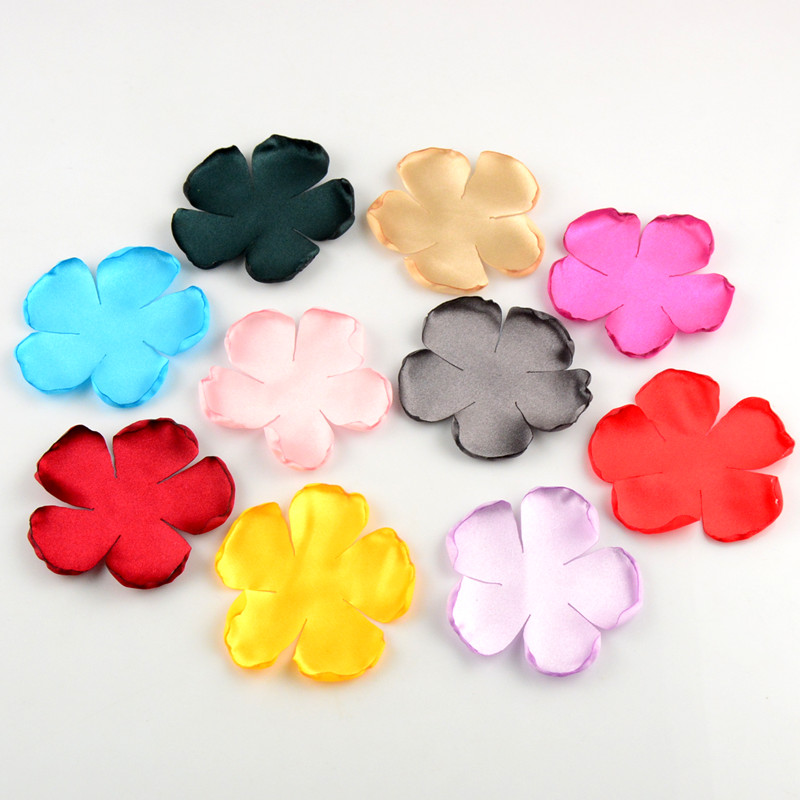 40pcs/lot 20 Color U Pick Handmade Burned Satin Rose Flower Petal Garment Hair Accessories Party & Table Decorations TH216 metting joura vintage bohemian ethnic tribal flower print stone handmade elastic headband hair band design hair accessories