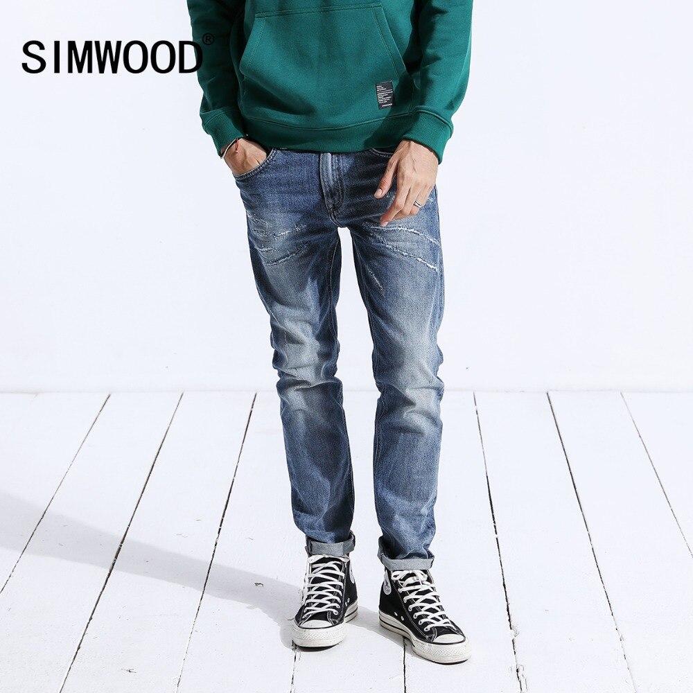 SIMWOOD 2019 herbst Jeans Männer Mode Lässig Slim Fit Hohe Qualität Denim Hosen Lange Hosen Marke Kleidung Heißer Verkauf 180358-in Jeans aus Herrenbekleidung bei AliExpress - 11.11_Doppel-11Tag der Singles 1