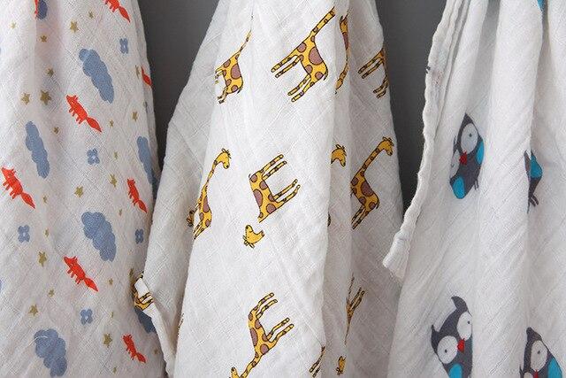 Langes en coton mousseline pour bébés | Couvertures pour bébés noirs et blancs, serviette de bain en gaze
