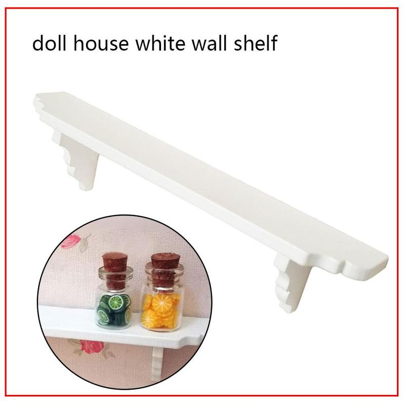 Dolls House Accessory Walnut Shelf Miniature Wooden Wall Shelves