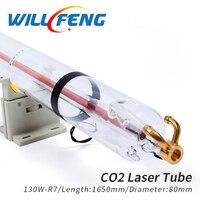 Будет Фэн Ен ли R7 130 W Co2 лазерной трубки Длина 1650 мм Диаметр 80 мм Лазерная лампа для Co2 лазерная гравировальная машина машины