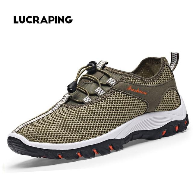 Мужская Обувь Дышащая Мужчины Повседневная Обувь альпинизм Hiking1 Обувь Chaussure Homme Сетки Zapatos Hombre Открытый Мужской Обуви Больших