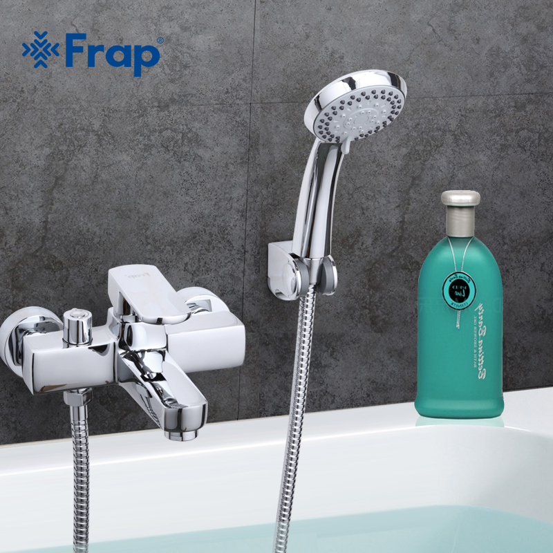 Frap Free Shipping Modern Style Bath and Shower Faucet Cold and Hot Water Mixer Single Handle Crane F3273 frap colorful handle rubber cover shower faucet cold and hot water single handle with shower bar and basin faucet f1034 f2434