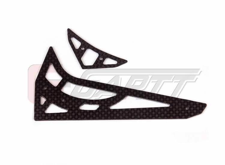 Gartt 450L carbon horizontal vertical tail fin For Align Trex 450L RC Helicopter
