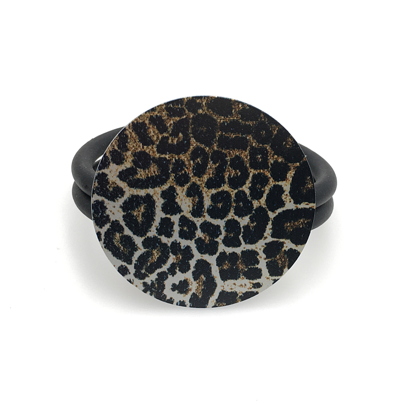 Купить с кэшбэком YD&YDBZ Leopard Round Bracelets Women's Handmade Jewelry Skeleton Head Leather Charm Bracelet High Street Style Vintage Punk New