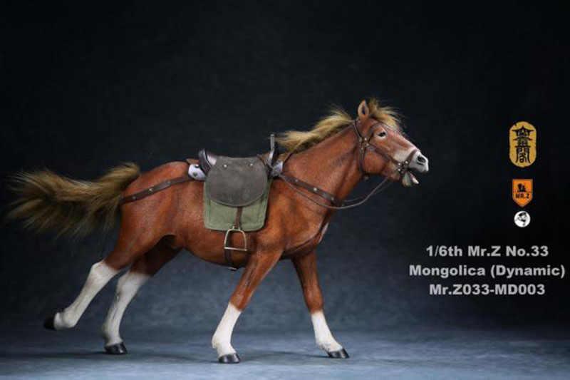 Para 12 polegadas figura de ação rmz033 1/6 escala antiga guerra cavalo mongolica postura dinâmica modelo animal com acessórios