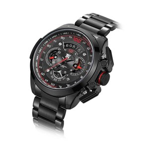 Image 3 - T5 מותג יוקרה שחור זהב זכר שעון צבאי קוורץ ספורט שעון יד גברים הכרונוגרף עמיד למים Mens שעוני ספורט שעוני יד
