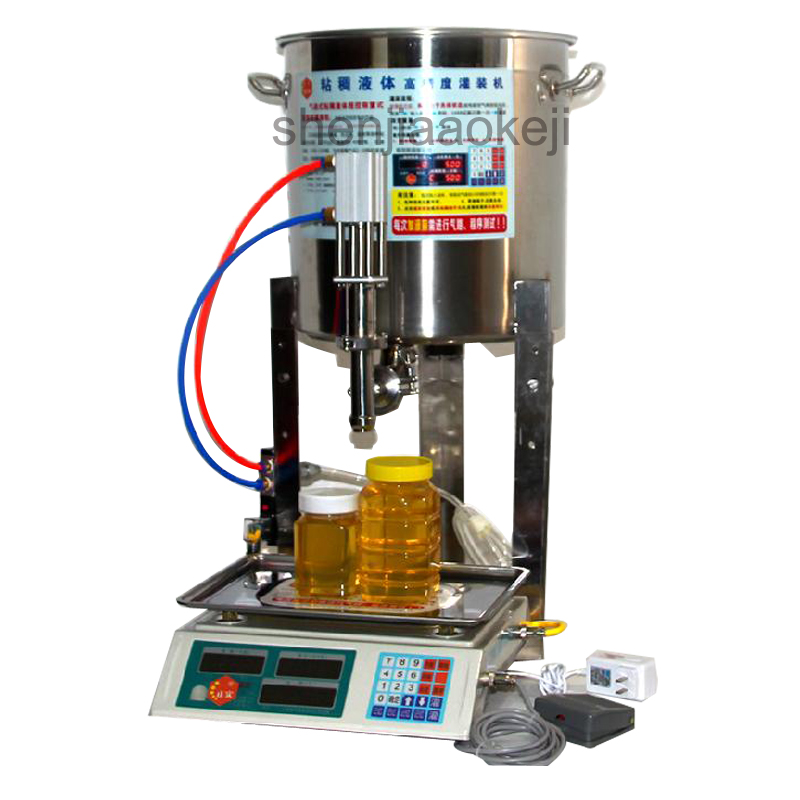 Digital Control Viscous liquid filling machine commercial 304 stainless steel juice honey filling machine quantitative 110V/220v 10oz stainless steel 110v 220v electric commercial popcorn machine with temperature control