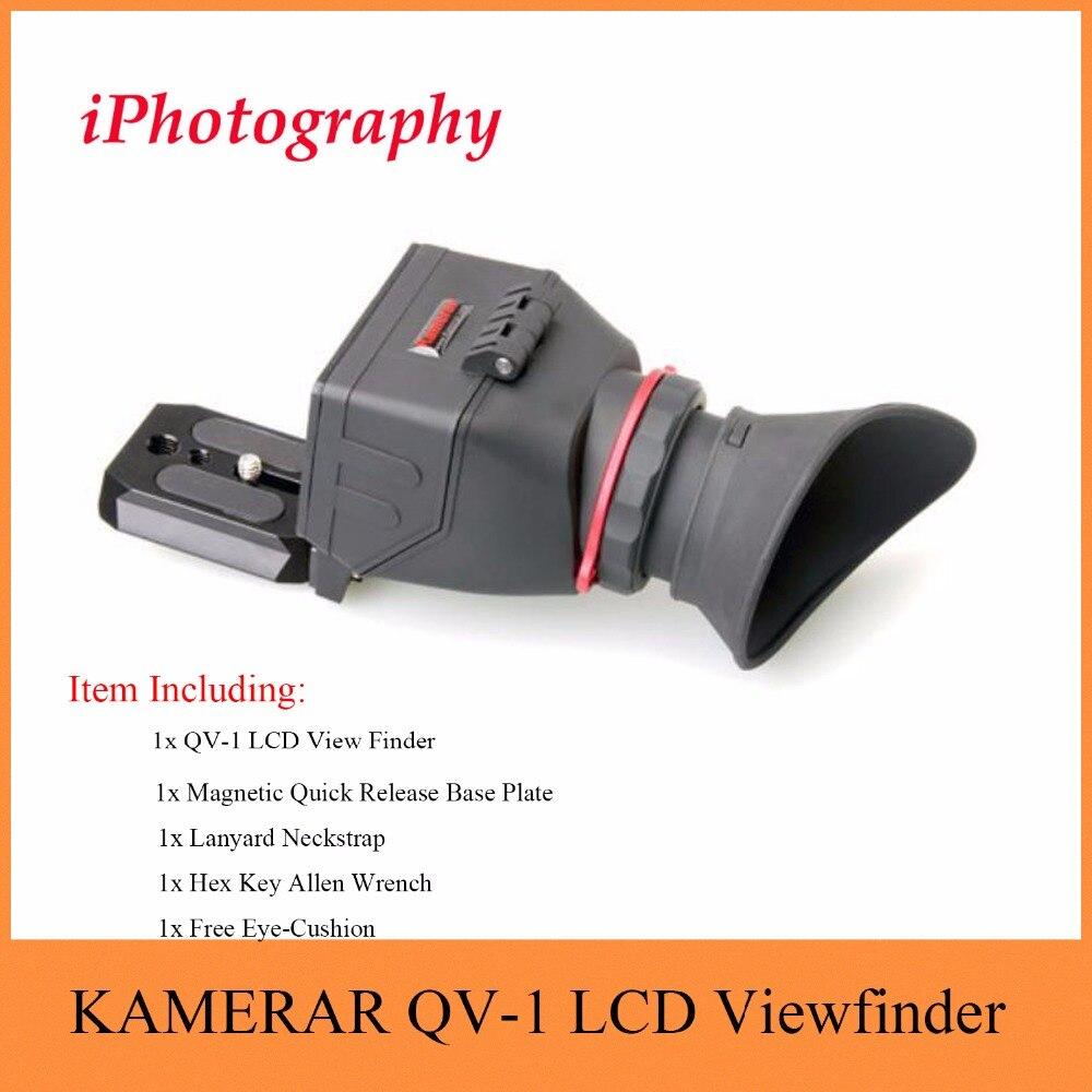 """KAMERAR QV 1 LCD Zoeker Voor 3 """" 3.2"""" CANON Nikon Sony Olympus DSLR Camera-in Accessoires voor fotostudio's van Consumentenelektronica op  Groep 1"""