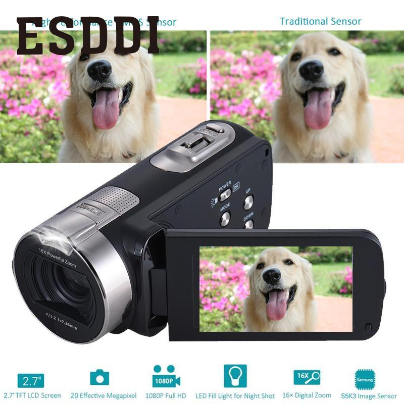 2018 New 2.7 Inch 1080P HDV-312P Digital Video Camera Home-use DV LCD Screen Professional Outdoor Cameras Travelling Boy Gift