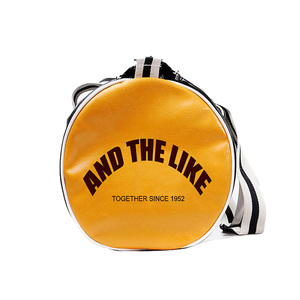Image 5 - トップ男性旅行荷物独立したシューズバッグ収納女性フィットネスバッグpuレザー印刷バスケットボールトレーニングバッグXA253WC