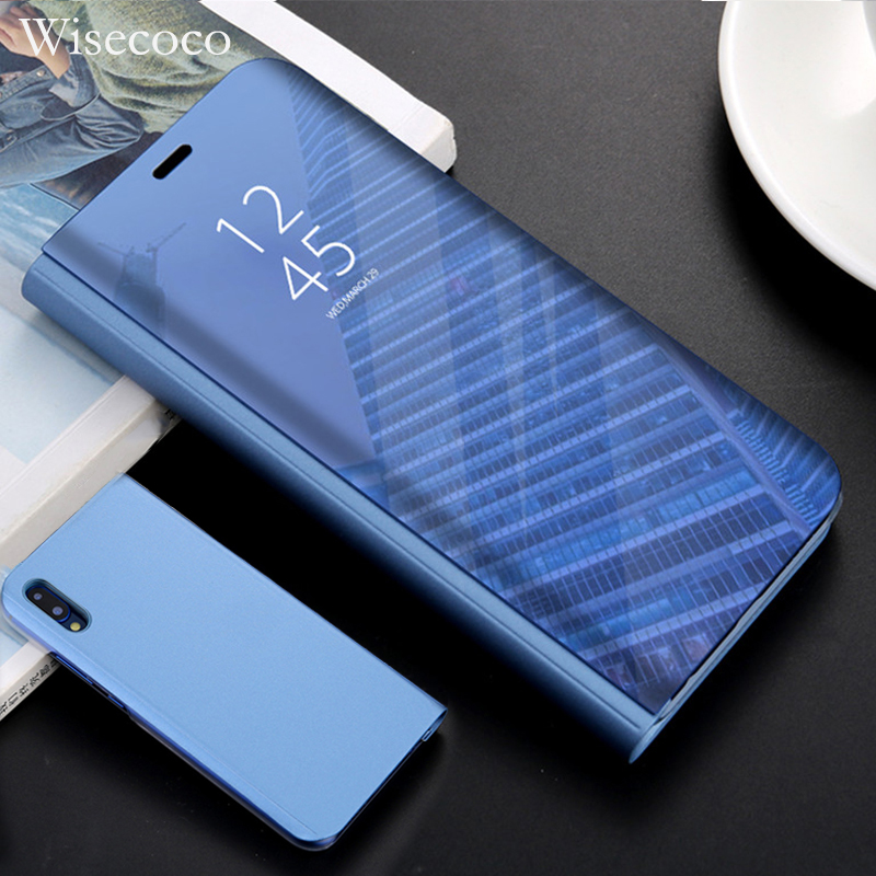 Smart Flip Mirror View Cover For Huawei P20 p9 P10 lite plus luxury phone Case huwei Mate 10 9 Pro Honor V10 p smart Stand Cases