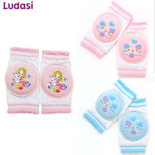 Child Knee Pads Breathable Summer season Children Toddle Protector Sponge Elbow Toddler Non-Slip Security Crawling Cartoon Kneepads Leg Heaters