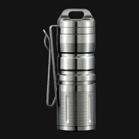 Jetbeam MINI 1 Titanium Keychain Flashlight XP G2 LED 130 Lumens
