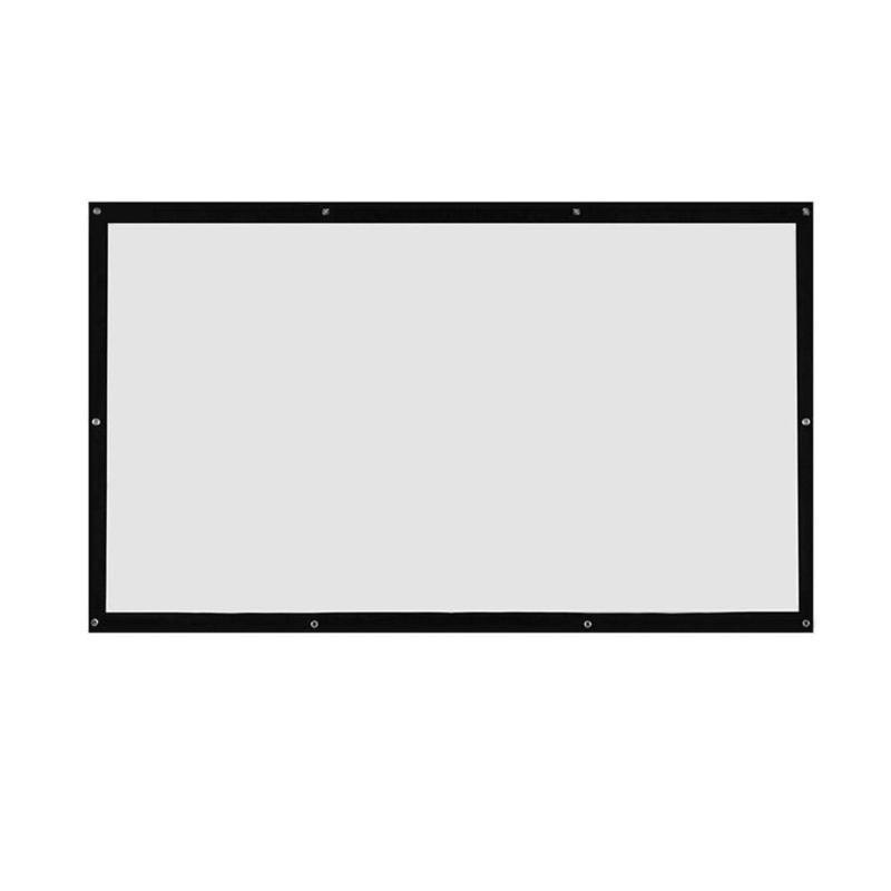 ALLOYSEED portátil 60/72/84/100/120 pulgadas 3D HD pantalla de proyección montada en la pared lona 16:9 LED proyector para cine en casa
