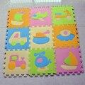 9 шт. детские Сканирование Трафика EVA Пены Ковер, детские Развивающие Головоломки Playmat Ковер Пола Коврики Play Блокировка Малыш Игрушки B516