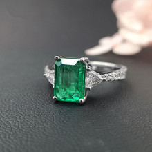 USD2,600 gems1.93ct fine jewelry 18k perfact Zambia natural emerald ring for women with certification