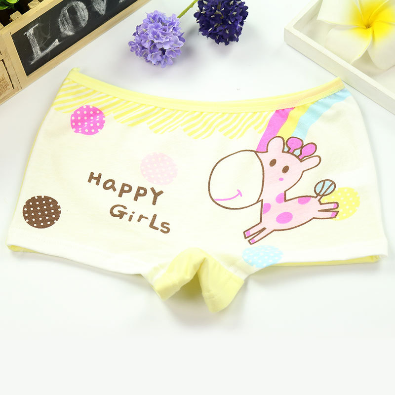 4Pcs/Lot Girls Underwear Children's Cotton Boxers Kids  Shorts Panites  Baby Girl Clothes for 2-10 years 3