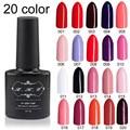 LKE 7 ml 20 Colores Eligen UV Esmalte de Uñas de Gel Gel Esmalte de Uñas de Gel de Larga Duración Empapa del Estado de Ánimo
