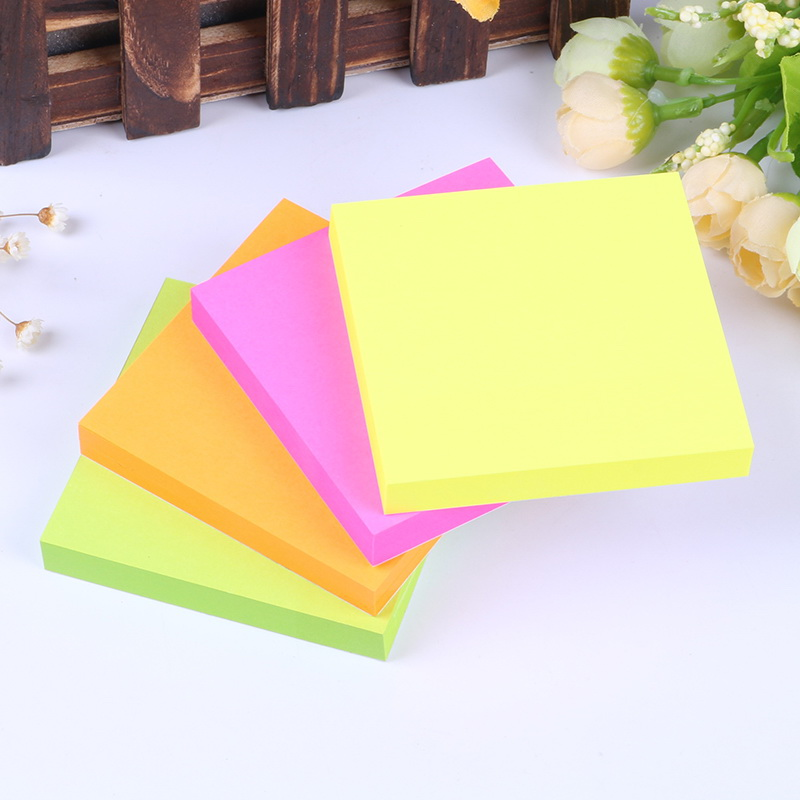 12 Packs x 100 Sheets Sticker Paper Note Decoration Memo Pads Stickers Self-Adhesive Sticky Notes Post It Deli 9085