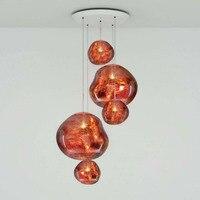 Пост современный Tom DIXON расплава подвесные светильники Стекло лавы нерегулярные Повесьте лампы для Гостиная Спальня лампа ресторан домашне