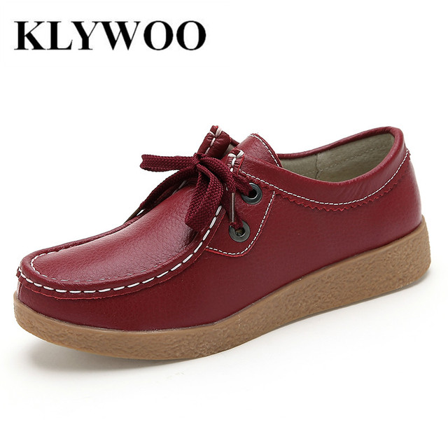 29baf16ab9d Spring Autumn Women Platform Shoes Genuine Leather Shoes Oxford Women  Fashion Comfortable Loafers Casual Flat Shoes
