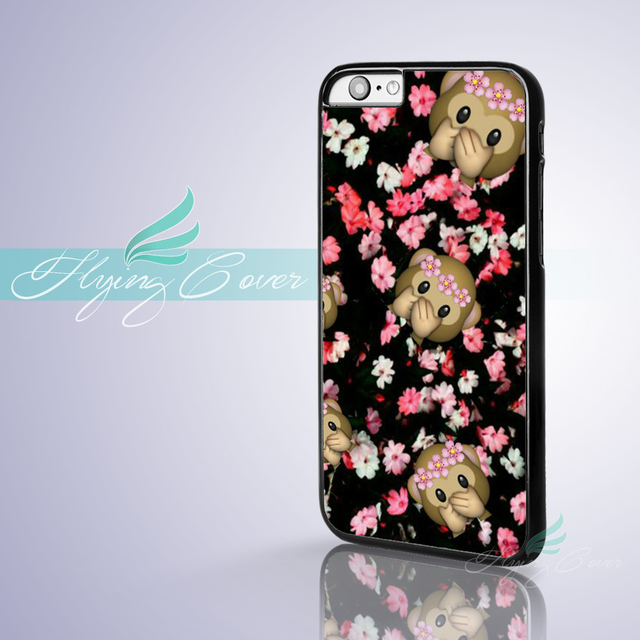 Coque monkey emoji pink flower capa phone cases for iphone x 8 8plus coque monkey emoji pink flower capa phone cases for iphone x 8 8plus 7 6 6s mightylinksfo