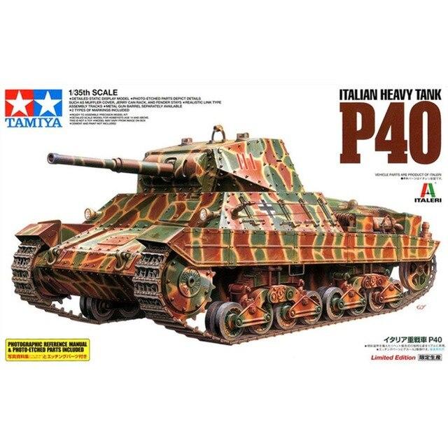 48d414fb6618 OHS Tamiya 89792 1 35 Italian Heavy Tank P40 Military Assembly AFV Model  Building Kits oh