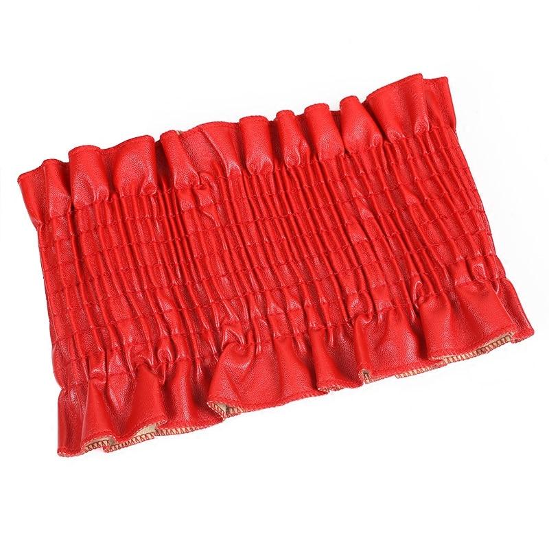 Autumn PU Dress Belt For Women Super Wide Elastic Belt Corset For Women High Waist Belt Corset Girdle Cinto Feminino Black Red