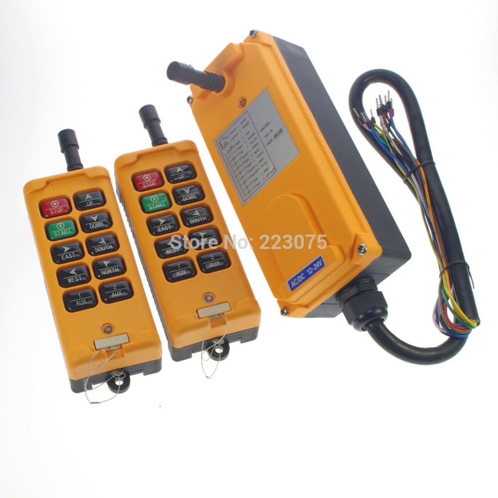10 Channel 2 Transmitters Hoist Crane Remote Control System 12V/24V/36V/48V/110V/120V/220V/240V/380V/415V  big sale new 2 transmitters