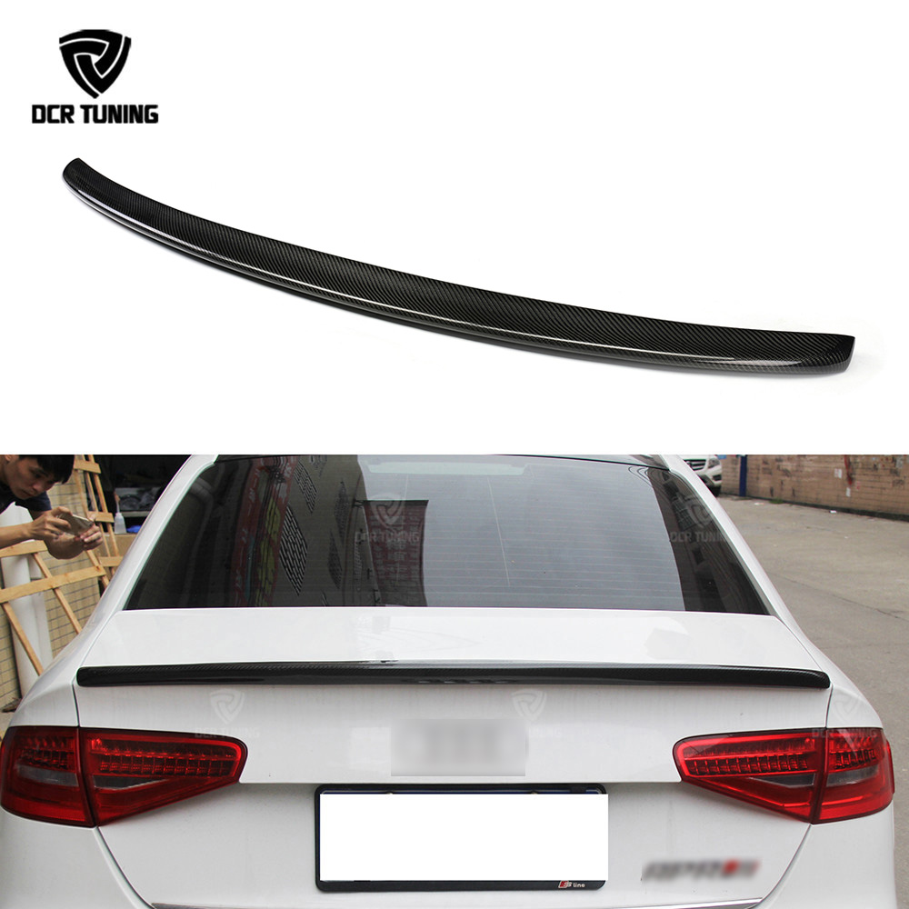 Carbon Spoiler Rear Trunk Spoiler Lips Sedan S Style Carbon Fiber Wings For Audi A4 B8.5 4 - Door Sedan 2013 2014 2015Carbon Spoiler Rear Trunk Spoiler Lips Sedan S Style Carbon Fiber Wings For Audi A4 B8.5 4 - Door Sedan 2013 2014 2015